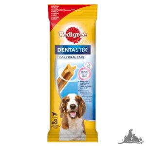 PEDIGREE DENTASTIX CODZIENNA PIELĘGNACJA JAMY USTNEJ ŚREDNIE RASY 77 G ( 3 SZT) Wszystkie >Psy >Kosmetyki i Pielęgnacja dla Psa >Higiena Jamy Ustnej  dla Psa ( 5998749104392 )
