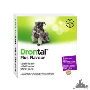 DRONTAL DLA PSÓW 2 TABL. PLUS FLAVOUR - ŚRODEK PRZECIWPASOŻYTNICZY Wszystkie >Psy >Zdrowie  dla Psa >Na Odrobaczenie dla Psa ( 5909991214074 )