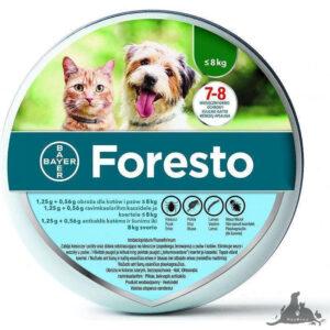 FORESTO OBROŻA DO 8KG Wszystkie >Psy >Zdrowie  dla Psa >Na pchły i Kleszcze dla Psa,Wszystkie >Koty >Zdrowie  dla Kota >Na pchły i Kleszcze dla Kota ( 5909990908479 )