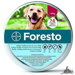 FORESTO OBROŻA OD 8KG Wszystkie >Psy >Zdrowie  dla Psa >Na pchły i Kleszcze dla Psa ( 5909990908462 )