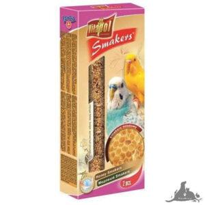VITAPOL SMAKERS MIODOWY DLA PAPUŻKI  FALISTEJ 90 G Wszystkie >Ptaki >Pokarm i Przysmaki dla Ptaków >Papużka Falista ( 5904479021076 )