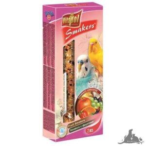 VITAPOL SMAKERS OWOCOWY DLA PAPUŻKI  FALISTEJ 90 G Wszystkie >Ptaki >Pokarm i Przysmaki dla Ptaków >Papużka Falista ( 5904479021083 )
