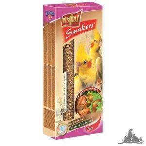 VITAPOL SMAKERS ORZECHOWY DLA NIMFY 90 G Wszystkie >Ptaki >Pokarm i Przysmaki dla Ptaków >Nimfa ( 5904479022073 )