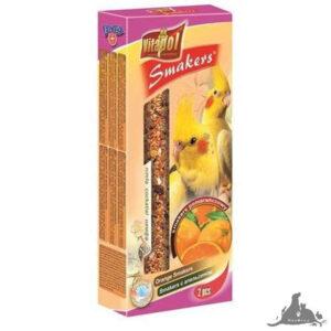 VITAPOL SMAKERS POMARAŃCZOWY DLA NIMFY 90 G Wszystkie >Ptaki >Pokarm i Przysmaki dla Ptaków >Nimfa ( 5904479022080 )