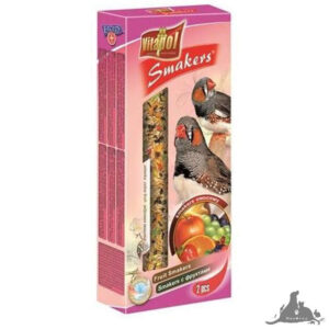 VITAPOL SMAKERS OWOCOWY DLA ZEBERKI I PTAKÓW EGZOTYCZNYCH 90 G Wszystkie >Ptaki >Pokarm i Przysmaki dla Ptaków >Zeberka i Egzotyczne ( 5904479023070 )