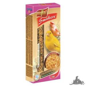VITAPOL SMAKERS MIODOWY DLA KANARKA 65 G Wszystkie >Ptaki >Pokarm i Przysmaki dla Ptaków >Kanarek ( 5904479025067 )