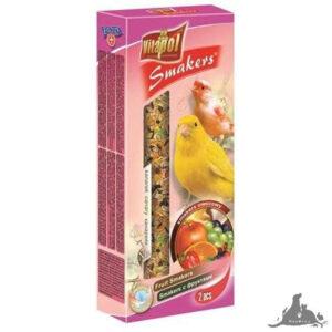 VITAPOL SMAKERS OWOCOWY DLA KANARKA 60 G Wszystkie >Ptaki >Pokarm i Przysmaki dla Ptaków >Kanarek ( 5904479025104 )